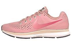 Nike Damen Air Zoom Pegasus 34 Running Trainers 880560 Sneakers Schuhe (UK 6.5 US 9 EU 40.5, Rust pink Tropical pink 606)