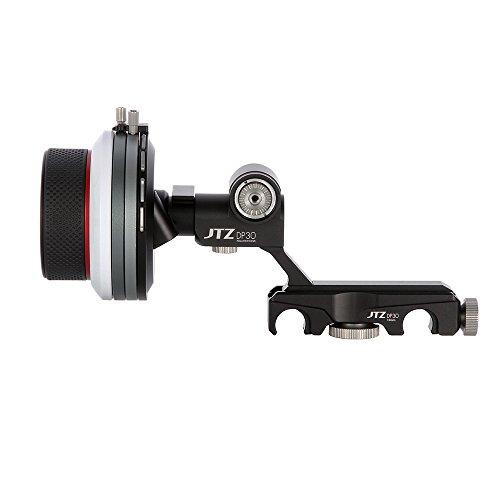 JTZ DP30 Cine Follow Focus Folge Fokus Schnellspannbefestigung / Quick Release 15mm / 19mm Kit für FS700 C300 C500 BMCC URSA Mini A7M2 GH4 GH5 ARRI PL Objektive -
