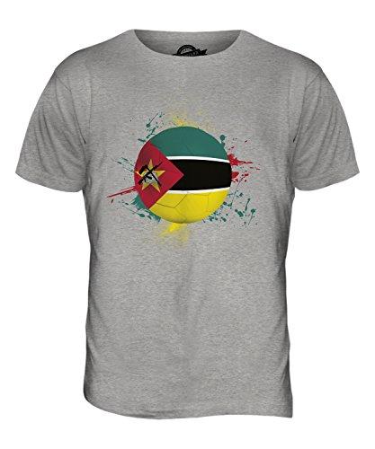 CandyMix Mosambik Fußball Herren T Shirt Grau Meliert