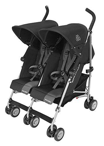 Maclaren Triumph - Carrito gemelar, color negro y gris