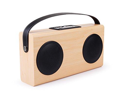 Altavoz avwoo doble altavoz–Portable, Bluetooh estéreo inalámbrico, doble altavoz, con radio FM, compatible Android iPhone Smartphone PC 2x 5watts y batería recargable 4000mAh