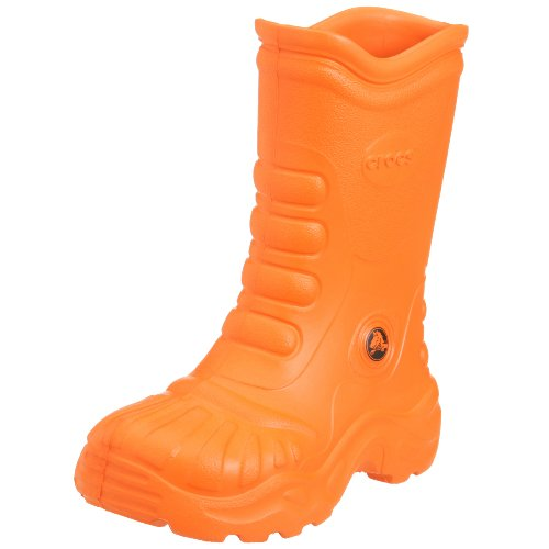 Crocs Kids Georgie Boot Orange, Easy on and Off Croslite Wellie