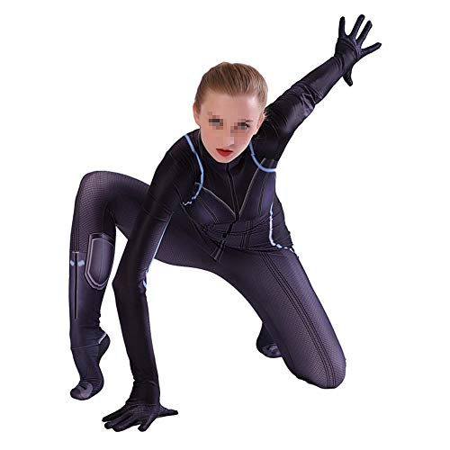 Kostüm Kind Avengers Black Widow - YXIAOL Halloween Black Widow Kostüm, Avengers Anime Cosplay Kostüm, Superheld Kostüm, 3D Style - Kinder/Erwachsene (S-XXXL),Child-S