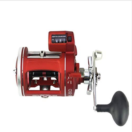 LVLUOYE Reel Fishing Bearing Anzahl 12Bb Trommel mit Zählwerks- integrierten Star Brems Schraubwerkzeug, Zentrifugal-Bremssystem 50-Links -30-Links