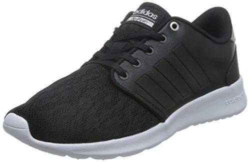 adidas Cloudfoam Qt Racer, Sneakers Basses Femme Core Black/Core Black/Silver met.