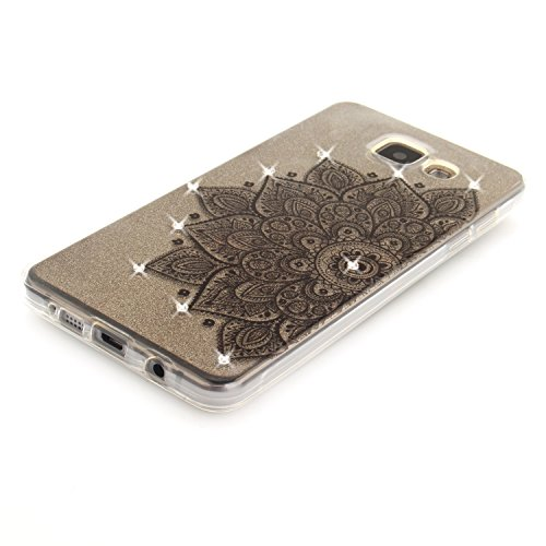 Qiaogle Telefon Case - Weiche TPU Case Silikon Schutzhülle Cover für Apple iPhone 7 Plus (5.5 Zoll) - TX98 / Magnolia TX95 / Schwarz Mandala