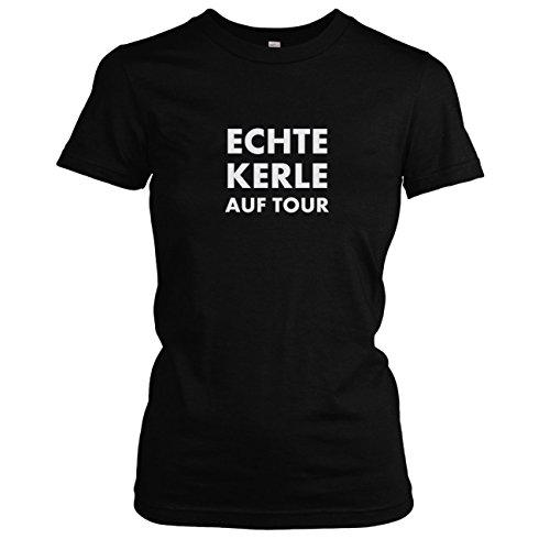 TEXLAB - Echte Kerle auf Tour - Damen T-Shirt Schwarz