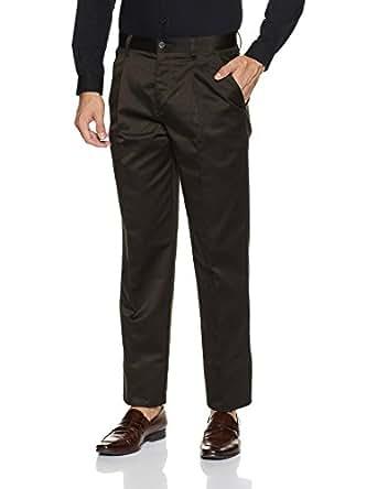 Indigo Nation Men's Formal Trousers (8907372721644_IT8123_PF_30W X 35L_Olive)