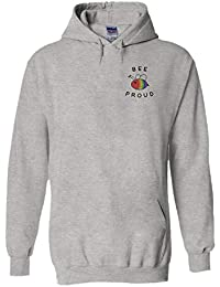 PatPat Store Bee Proud LGBT Walk Gay Lesbian Novelty Black Men Women Unisex  Hooded Sweatshirt Hoodie 673274724c