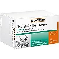 Teufelskralle-ratiopharm Tabletten, 100 St. preisvergleich bei billige-tabletten.eu