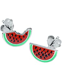 Watermelon Earrings - Sterling Silver
