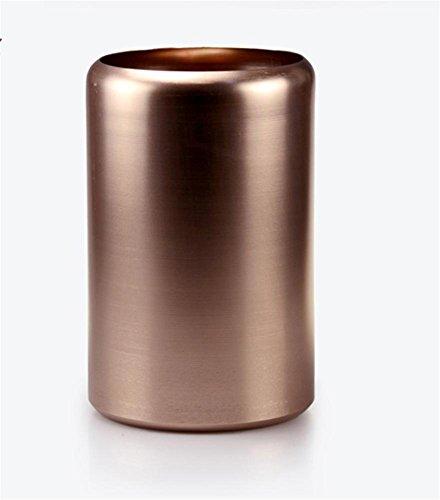 Bidoni Della Spazzatura da Letto Hotel Bidoni di Metallo Bidoni Circolari Senza Coperchio Cestino , Rose Gold