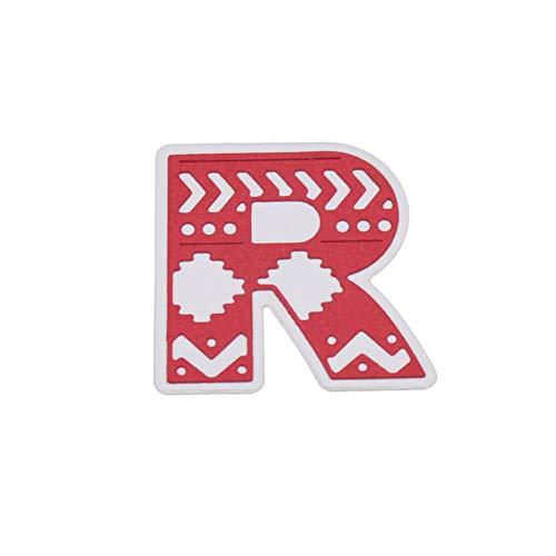 Qinpin 2018 Stanzschablonen, 5 cm, große Alphabet-Buchstaben, Metall für DIY Scrapbooking, kostenlose Lieferung, Karbonstahl, R, Einheitsgröße