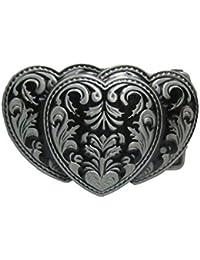 Corrosionp Boucle de ceinture Style Western Boucle de ceinture pour Hommes  Femmes H bb734d414f7