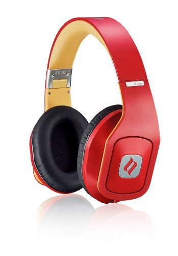 Noontec MF3118(R) Hammo Stereo On-Ear-Kopfhörer mit Mikrofon und Funktionstaste rot