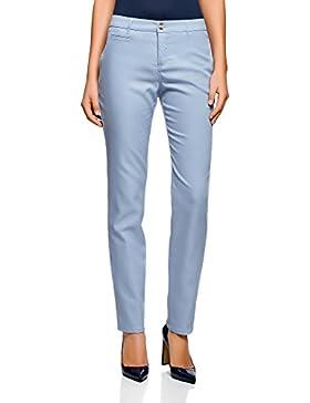 oodji Ultra Mujer Pantalones Ligeros Rectos
