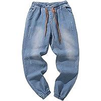Cebbay Liquidación Pantalones Vaqueros de los Hombres Pantalones de Trabajo de Hip Hop Pantalones Casuales Otoño e Invierno cálido Retro de Gran tamaño Suelto