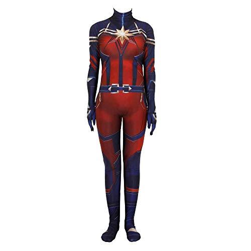 Kostüm Muster Spider Girl - ZHANGQI Spiderman Print Bodysuit Cosplay Overall 3D Spandex LycraParty Anzug Mit Hochelastischen Requisiten,Red-Adult/XXL