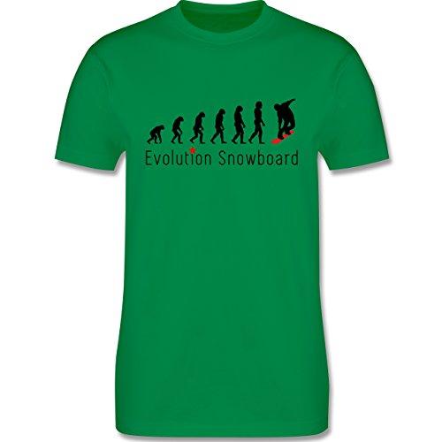 Evolution - Evolution Snowboard - Herren Premium T-Shirt Grün