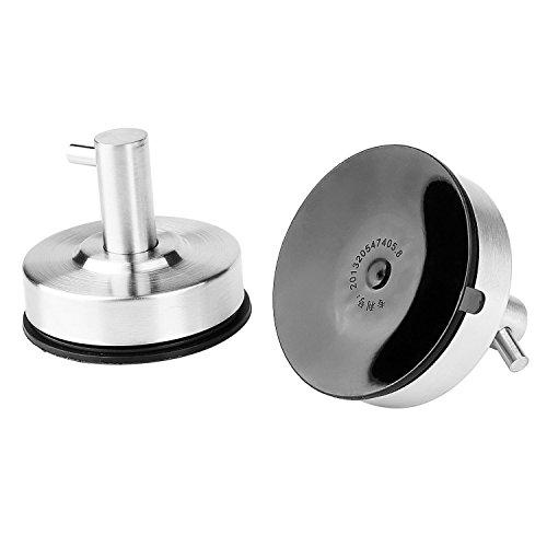 MYTK Ganci con ventosa per bagno, in acciaio INOX Single Hook