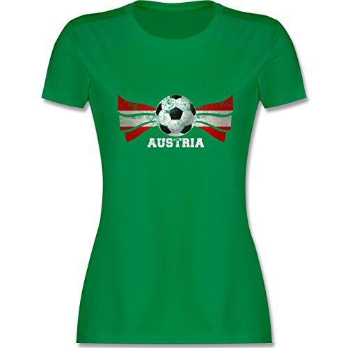 EM 2016 - Frankreich - Austria Fußball Vintage - tailliertes Premium T-Shirt mit Rundhalsausschnitt für Damen Grün