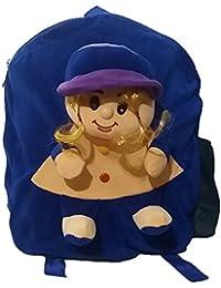 Pari Toys Blue Color School Bag For Kids, Travelling Bag, Picnic Bag, Carry Bag With Soft Material 15 Inch - B074CFKS7V