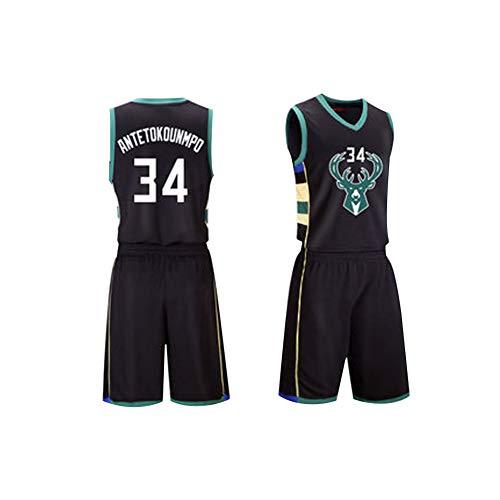 Giannis Antetokounmpo 34 Basketball Trikot, Herren Retro Athletics Milwaukee Bucks Trikot (XS-XXL) Das Material des Trikots selbst ist sehr hochwertig.
