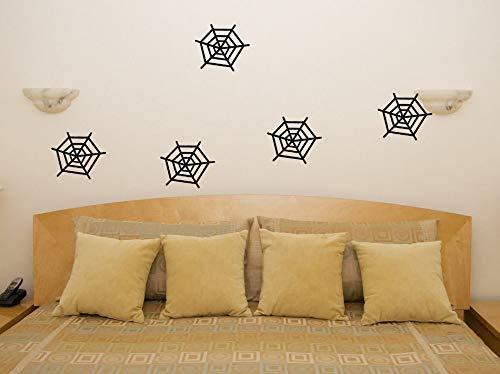 pinne Spinnweben Fenster Wandsticker Aufkleber Kunst Bild - Schwarz, 23 cms wide x 20 cms high ()