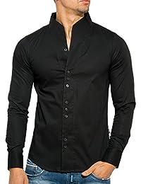 L.A.B 1928 - Camisa casual - cuello mao - para hombre