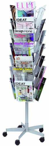 Buy ALBA Mobile Rotating Metal Wire Literature Display Stand – Black Reviews