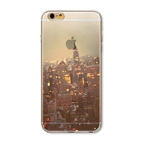 Coque iPhone 6 6s Housse étui-Case Transparent Liquid Crystal en TPU Silicone Clair,Protection Ultra Mince Premium,Coque Prime pour iPhone 6 6s-Paysage-style 3 6