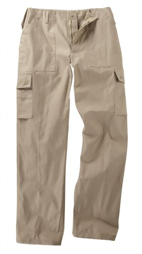 Youths / Kids Military Combat Cargo Trousers - Beige 11-12 Years