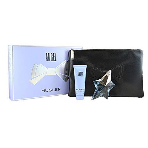Thierry Mugler Angel Geschenkset femme Eau de Parfum + Bodylotion + Tasche im Set, 1er Pack (1 x 1 Stück) -