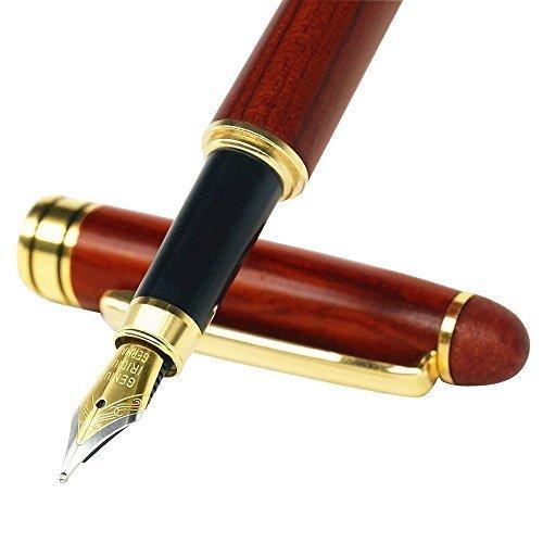 FARSLER Palisander Füllfederhalter Schreibset mit Holz Geschenkbox, handgefertigte Vintage Füllfederhalter Luxus Elegant Geschenk Stift für Kalligraphie Unterschrift Executive Business