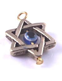 2 X Star Of David Gold With Rotating Evil Eye Protection Pendant 22mm