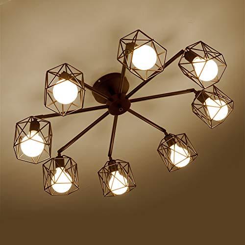 Feraz Home Amerikanische einfache schmiedeeiserne Deckenleuchte Nordic IKEA Wohnzimmer Lampe kreative Persönlichkeit Atmosphäre Restaurant Café Lampe