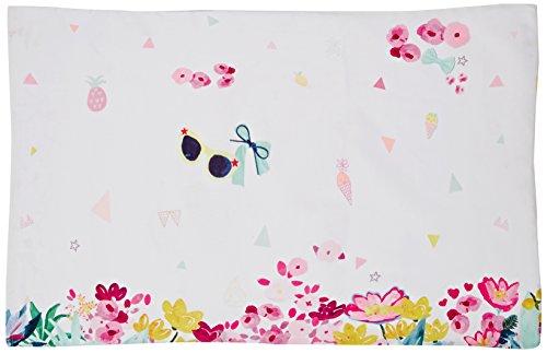 Catimini - Île aux Fleurs Taie d'oreiller Coton Blanc 64 x 64 cm