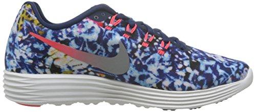 Nike Wmns Lunartempo 2 Rf Et, Chaussures De Course À Pied Pour Femme Rouge (rojo (brt Crmsn / Mid Nvy-rflct Slvr-s))
