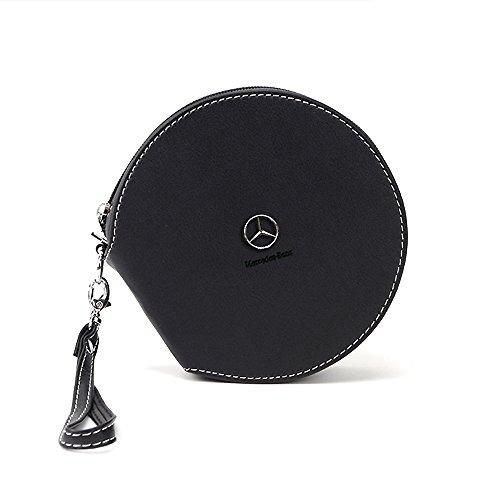 Preisvergleich Produktbild OPAYIXUNGS CD Tasche (CDs / DVDs / Blu-rays,  Mappe zur Aufbewahrung) schwarz Mercedes-Benz logo