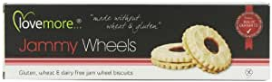 Lovemore Gluten-Free Jammy Wheel Biscuits 115 g Approx. 8 Biscuits per pack  (Case of 8, Total of 64 Jammy Wheels)