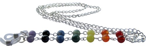 ~ 9~ Chakra pierres précieuses silverplated Lunettes Lunettes de soleil chaîne titulaire Cordon