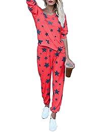 Kootk Survêtements Femmes Sweat-Shirt Ensemble Pullover Loisir Pantalon Sport  Costume 2 Pièces Sportswear Vêtements De Sport Survêtement Sport… b8985535515