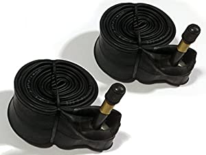 2x LONG VALVE Bike Cycle Inner Tubes 700 x 25 - 28 / 32 c or 27 x 1¼ With 48mm SCHRADER VALVE - 700c