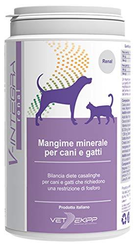 V-Integra Renal Mangime Minerale per la Dieta Casalinga di Cani e Gatti Che Richiedono Una Restrizione di Fosforo - 200 Gr
