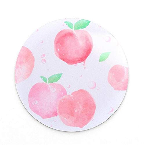 Verdickt Apple (Kreative Persönlichkeit, Planetenmauspad, weiches Gummikissen, kleine frische kreisförmige Notizblockauflage, die 22 *   22CM Silber verdickt)