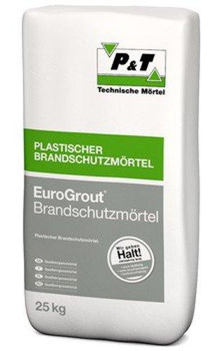 EuroGrout Brandschutzmörtel 0-1 mm 25 kg - beständig gegen Frost Tausalz Rohöl - gebrauchsfertig mit Zement als Bindemittel (Flex Bindemittel)