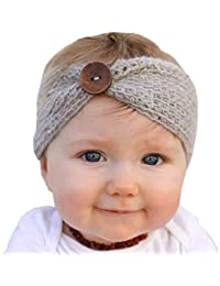 Ziory Grey Baby Girl Baby Boy Unisex Knit Crochet Turban Headband (4-8 months) Warm Headbands for Newborn Hair Head Bowknot Band Hairband Photography Props ornaments