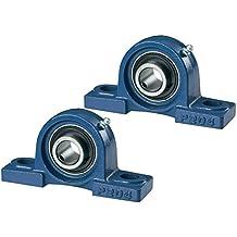 Lote de 2 soportes para rodamientos UCP 206 NP30 de 30 mm de calibre