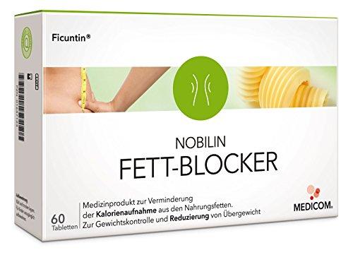 NOBILIN FETTBLOCKER - 60 Tabletten Fettverbrenner, Fettbinder bei Übergewicht, Fatburner zur Gewichtskontrolle, Diät Kapseln zum Abnehmen
