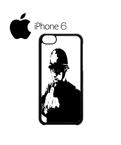 Banksy Policeman Copper Middle Finger Swag Mobile Phone Case Back Cover Hülle Weiß Schwarz for iPhone 6 White Schwarz